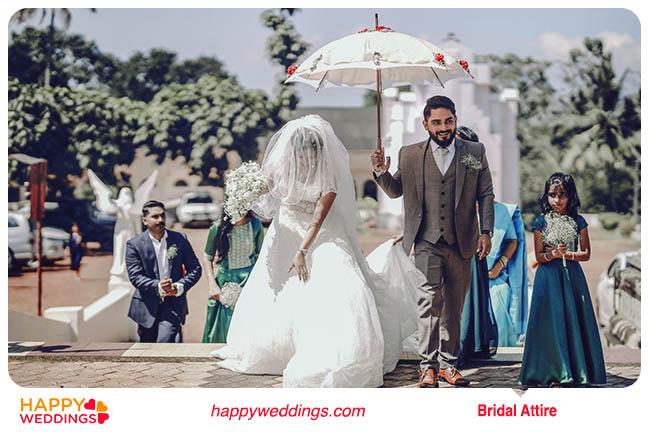 Bridal Attire for Christian Wedding
