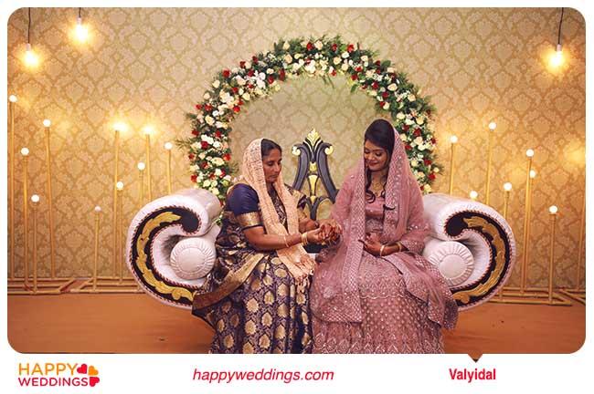 Muslim wedding Valayidal (Wearing the Bangle)