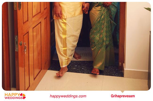 Kerala wedding Grihapravesh