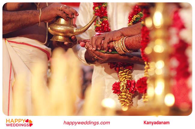 Kerala wedding Kanyadaanam