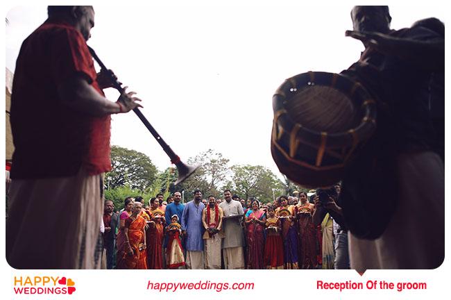 Kerala wedding Reception of the Groom