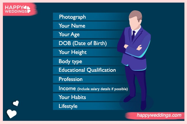 marriage biodata template